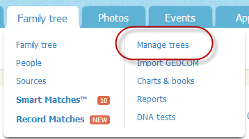 Manage trees