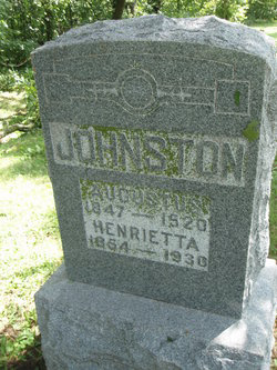 Family Gravestone of Augustus & Henrietta Johnston - CHAPMANFAMILYTREE Web Site