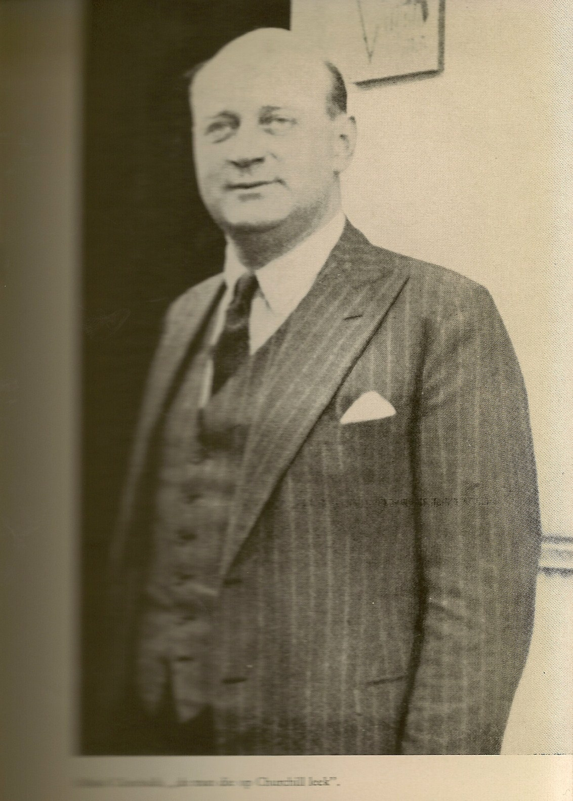 Alfred Chenhalls, the look a like of Winston Churchill / Alfred Chenhalls de man die op Churchill leek - Herrmann / Tepas Web Site