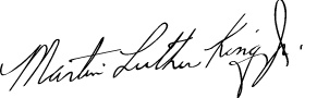 Signature - Martin Luther King, Jr. - Family Tree of Martin Luther King Jr.