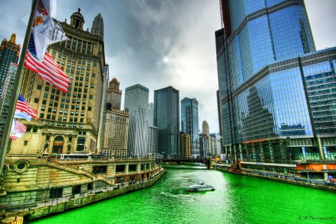 Chicago River St Patrick's Day