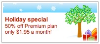holiday promotion for premium plans